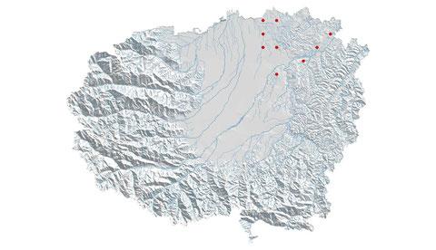 Aeshna isosceles distribuzione al 2013 (maglia 5x5)