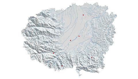 Lestes dryas distribuzione al 2013 (maglia 5x5)