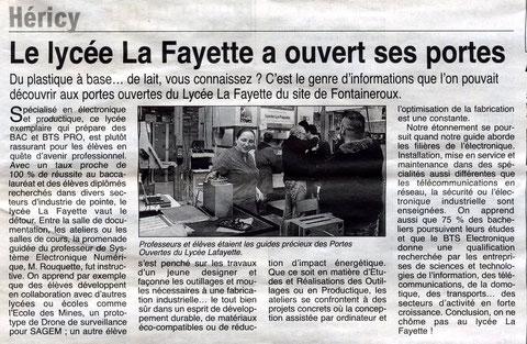 un article de la République de Seine et Marne