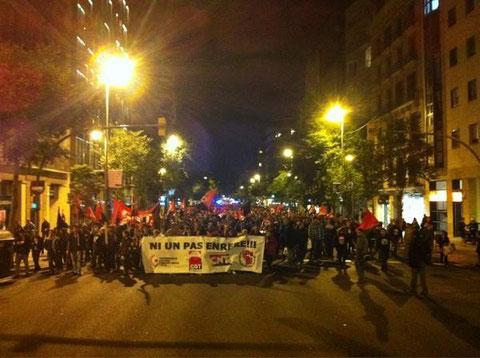 erneut sind am Mittwoch tausende in Barcelona auf die Straße gegangen