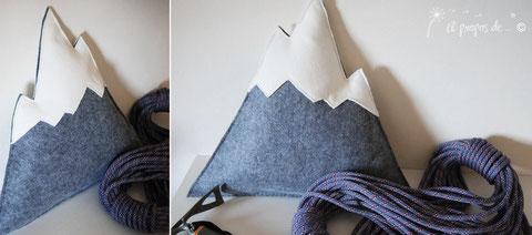 cuscino montagna feltro