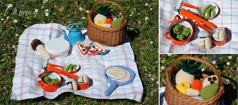 amigurumi, uncinetto, crochet, food, cibo, picnic