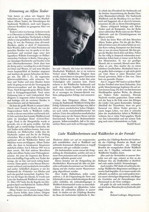 1987, Waldkircher Heimatbrief, Seite 4 (m. freundl. Genehmigung durch Max Bühler)