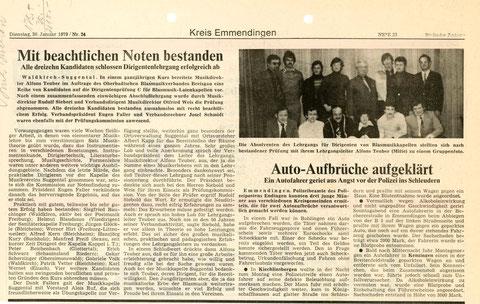 Badische Zeitung vom Dienstag, 30. Januar 1979 / Nr. 24