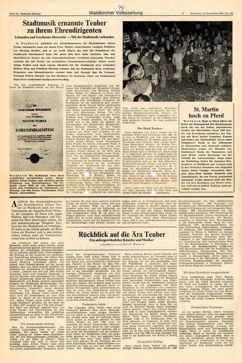 Badische Zeitung, Mittwoch 13. November 1974