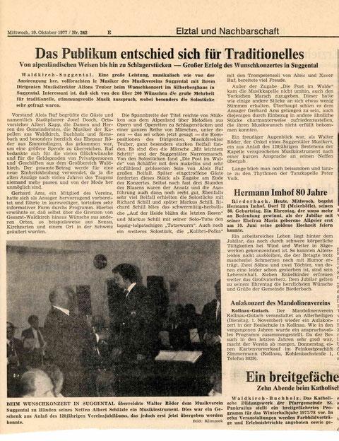 Badische Zeitung, Mittwoch 19. Oktober 1977