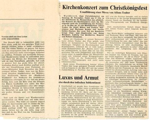 Badische Zeitung vom 28. Dezember 1978