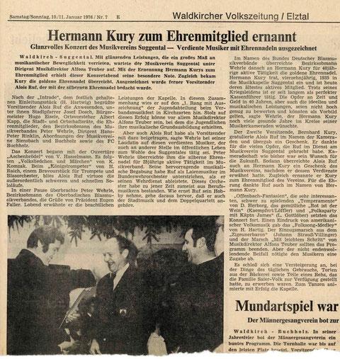 Badische Zeitung, Samstag/Sonntag 10./11. Januar 1976