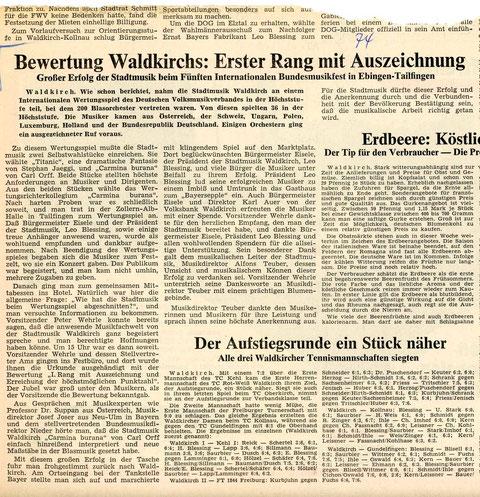 Badische Zeitung, Anfang November 1974