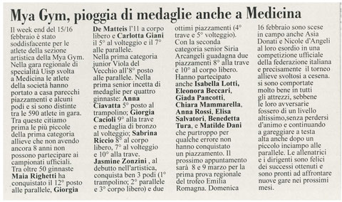"""Articolo """"L'informazione"""" 25/02/2014"""