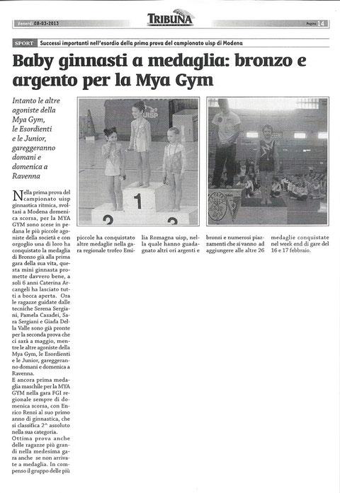 ARTICOLO TRIBUNA 08/03/13