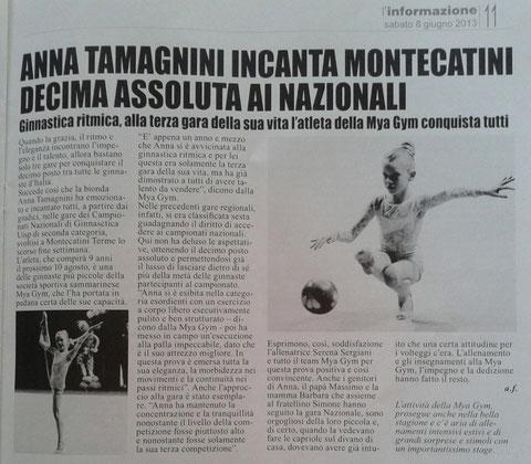 """Articolo """"L'informazione"""" 08/06/13"""