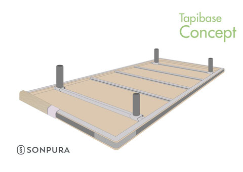 Vista invertida de la estructura del Tapibase Concept