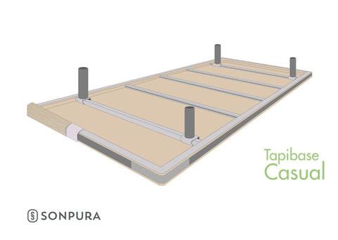 Vista invertida de la estructura del Tapibase Casual
