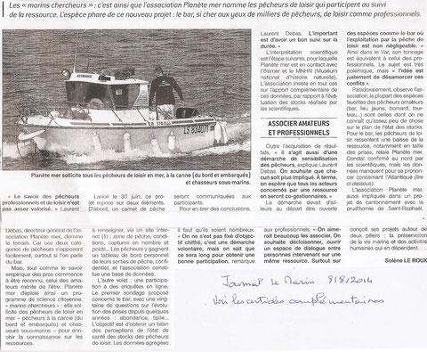 Les marins chercheurs