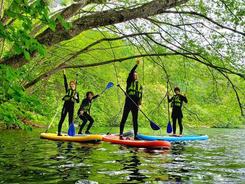 虹の架かった奇跡のSUP体験ツアー