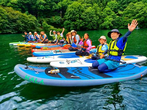人気No.1の木崎湖SUPツアー