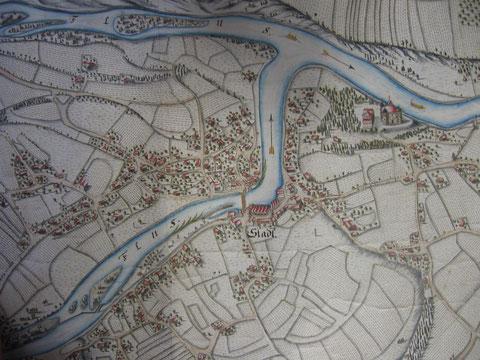 Alte Ansicht von Stadl-Paura ca. 1771