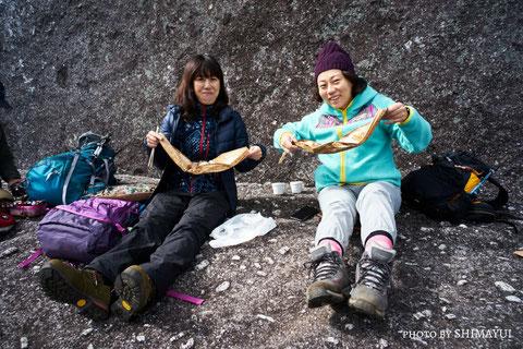 快晴の日は、頂上でお弁当(太忠岳ガイドツアー)