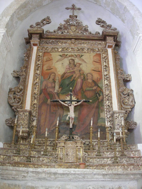 Chiesa della Madonna della Catena: Quadro con Madonna omonima e le Sante Agata e Barbara