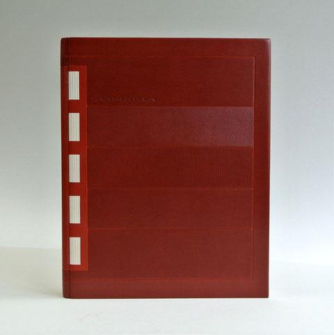 reliure crisscross, design du livre, reliure d'art,
