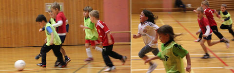 So richtig Spaß macht es auch den ganz Kleinen in der Halle. Die Dynamik ist in den Bildern nicht zu übersehen.