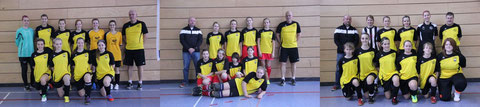 von links: Dreamteam, Juniorteam, Allstars