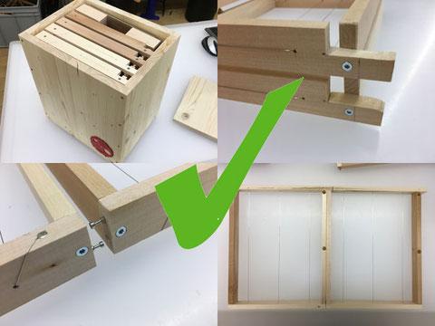 Begattungsbox mit Steckrähmchen