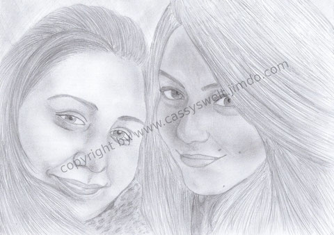 25. April 2012 - Eine gute Freundin von mir (links) & deren beste Freundin (rechts)