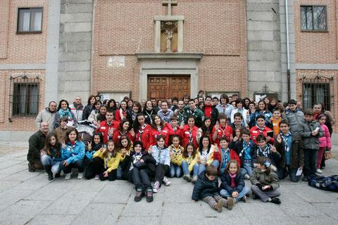 Los participantes a le celebración (foto Diario de Ávila)