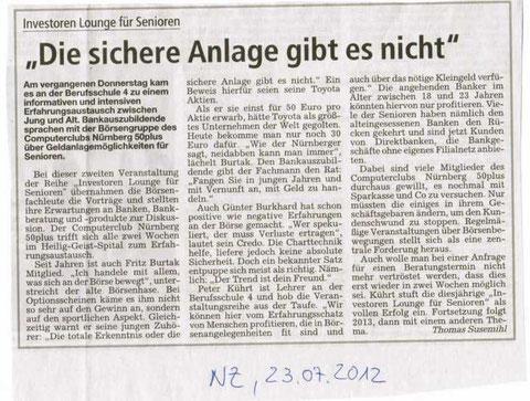 "Nürnberger Zeitung vom 23.07.2012 (""Nürnberg plus"")"