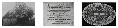 1 Alte Scheune am Weinberg 2. Dokument für den Aufkauf von Schürfrechten  3. Grube Morgenröte