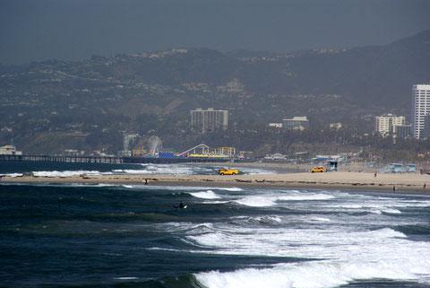Blick zum Santa Monica Beach