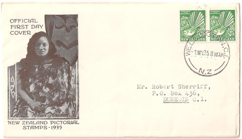 First day cover, 1st of May 1935