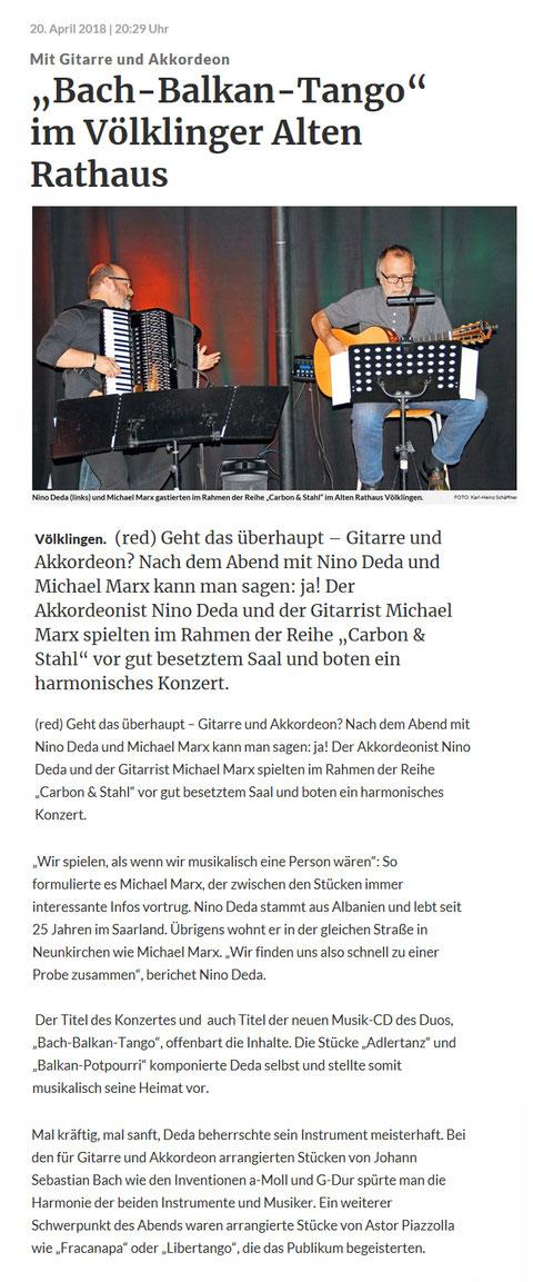 Presse - Nino Deda - Klavier, Akkordeon, Komposition ...