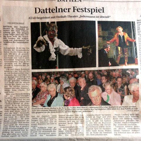 Dattelner Morgenpost 8.9.2014