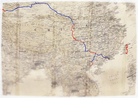 Asie, voyage à vélo, Laetitia