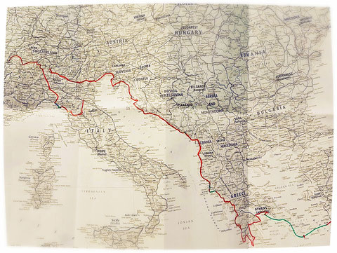 Itinéraire, Europe, voyage à vélo, Laetitia