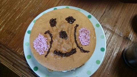 娘の誕生日に作ったケーキ「アンパンマン」なのだ