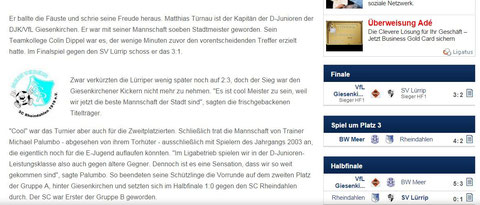 Beitrag Fupa - 29.12.2014  Vize-Hallenstadtmeister 2014