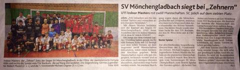 Turniersieger beim SC Jülich am 04.01.2014
