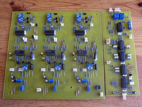 Pour NRsynth, carte de 3 VCO 4027-1 et carte driver qui gère le portamento et toutes les sommations.