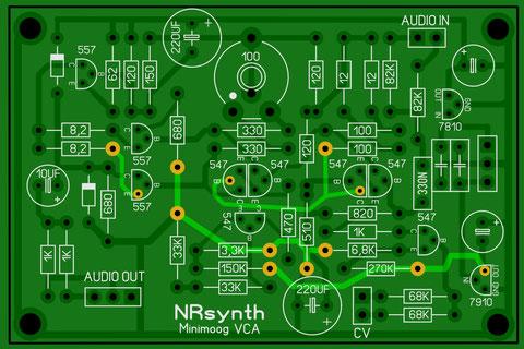 PCB Professionnel (compatible alim 12 et 15V). Plus disponible