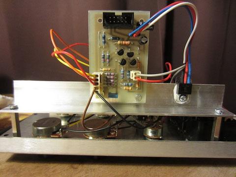 Un montage soigné avec connecteur compatible mos-lab et potard stéréo pour les sorties + et - (comme sur les moog).