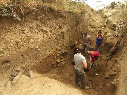 Excavación del Foso Norte, Verano de 2010