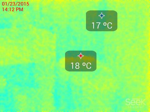 洗面脱衣所壁表面温度サーモ画像