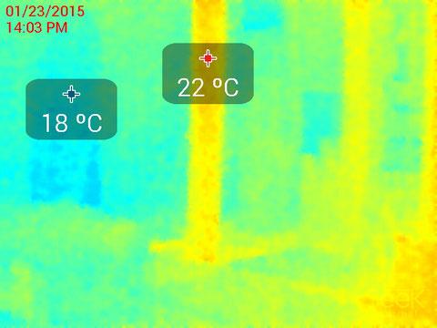 リビング天井表面温度サーモ画像