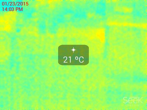 リビング床表面温度サーモ画像
