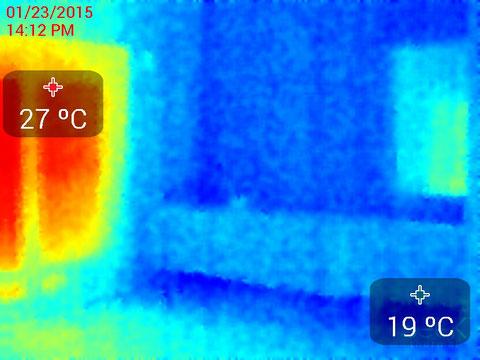 2階室表面温度サーモ画像