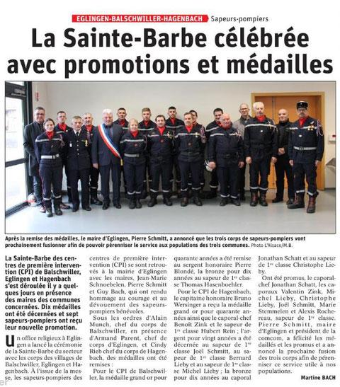 Journal L'Alsace du 19 décembre 2019